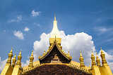 Golden Wat That Luang in Vientiane, Laos