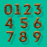 Wooden polygonal numbers, vector Eps10 illustration.
