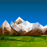 Mountainous terrain, polygonal background, vector Eps10 illustration.