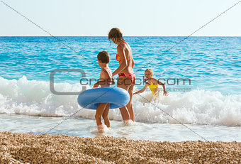 Family vacation on summer Ionian sea