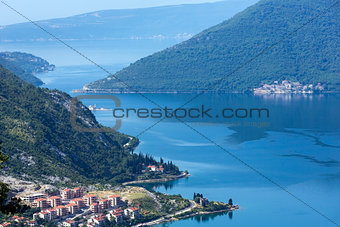 Kotor town on coast  (Montenegro, Bay of Kotor)