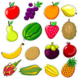 Fresh Fruits Doodle Style