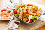 Salad with prawn