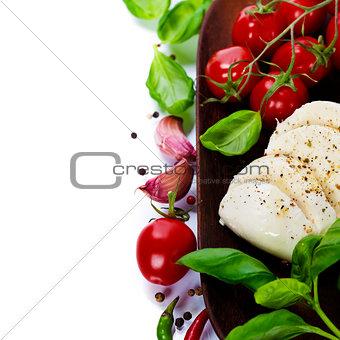 Caprese - Italian salad with tomatos and mozarella cheese