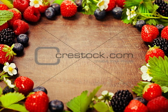 Fresh berries frame