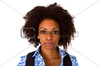Attractive female afro american