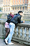 couple near the river