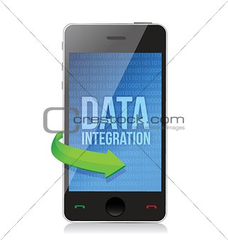 smartphone with word Data Integration on display