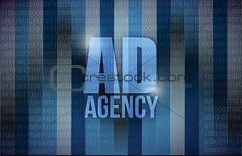 ad agency binary background design
