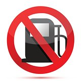 no gasoline. no fuel pump sign