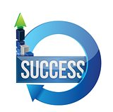 success business blue cycle illustration design
