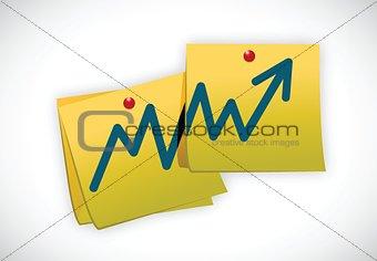 business post graph teamwork illustration