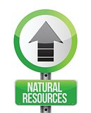 depicting a sign with a natural resources