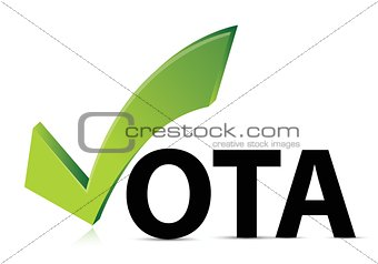 green check mark vote in spanish
