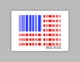 Barcode USA. Made in usa illustration
