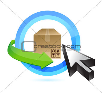 box button illustration design