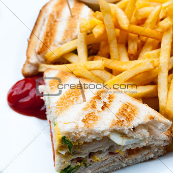 Sandwich with chicken