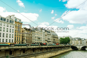 beautiful Parisian sunshine streets view