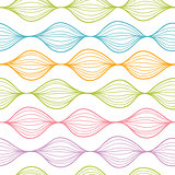 Vector colorful horizontal ogee seamless pattern background