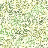 Vector underwater seaweed garden seamless pattern background