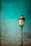 retro style antique lampstand