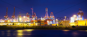 Illuminated Container Terminal
