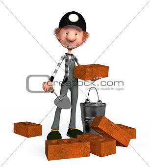 3d boy builder.