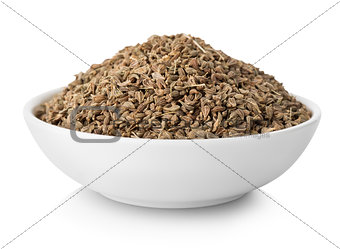 Anise seeds in plate