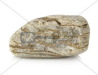 Grey granite stone isolated