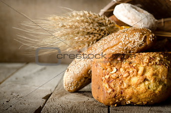 Wheat and bread assortment