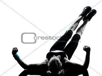 woman workout fitness posture abdominals push ups