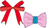 Isolated Coloured Vectors of Ribbon Bows