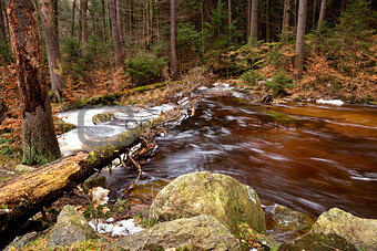 fast mountain river in Harz
