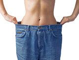 Slim waist. Girl's torso