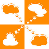 Set of Cloud Shape Speech Bubbles