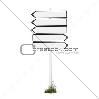 empty direction sign