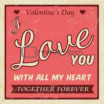 Valentine's Day vintage poster