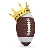 Crown on the ball for American football