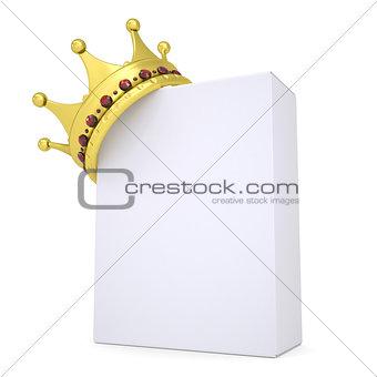 Crown on a white box