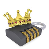 Crown on the combination lock