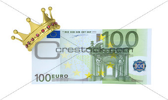 One hundred euro with the crown