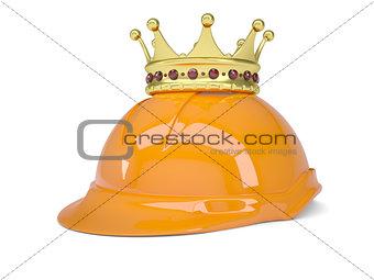 Crown on helmet