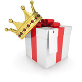 A gift with a crown