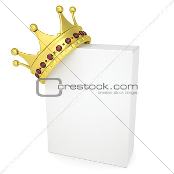Crown on a white box