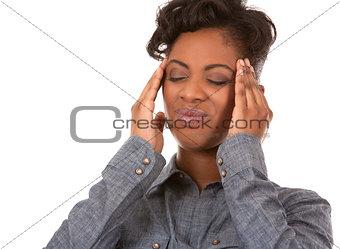 woman and headache