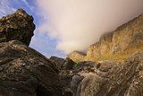 Rocks and cliffs