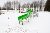 water park slide snow lake winter playground