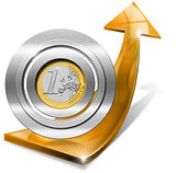 Euro Growth - Positive Orange Arrow