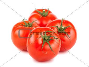 Four ripe tomato