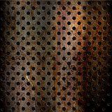 Rusty perforated metal background